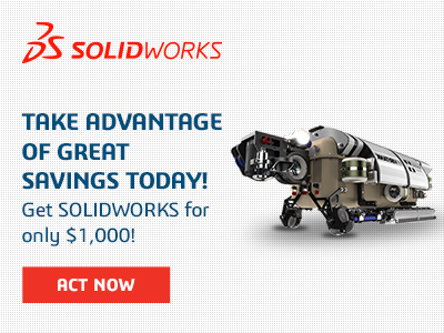 Buy Any SOLIDWORKS CAD License and Get the Second One for $1,000